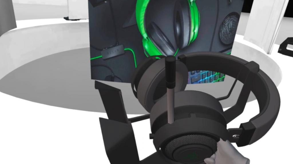 VR展示会手で持つ
